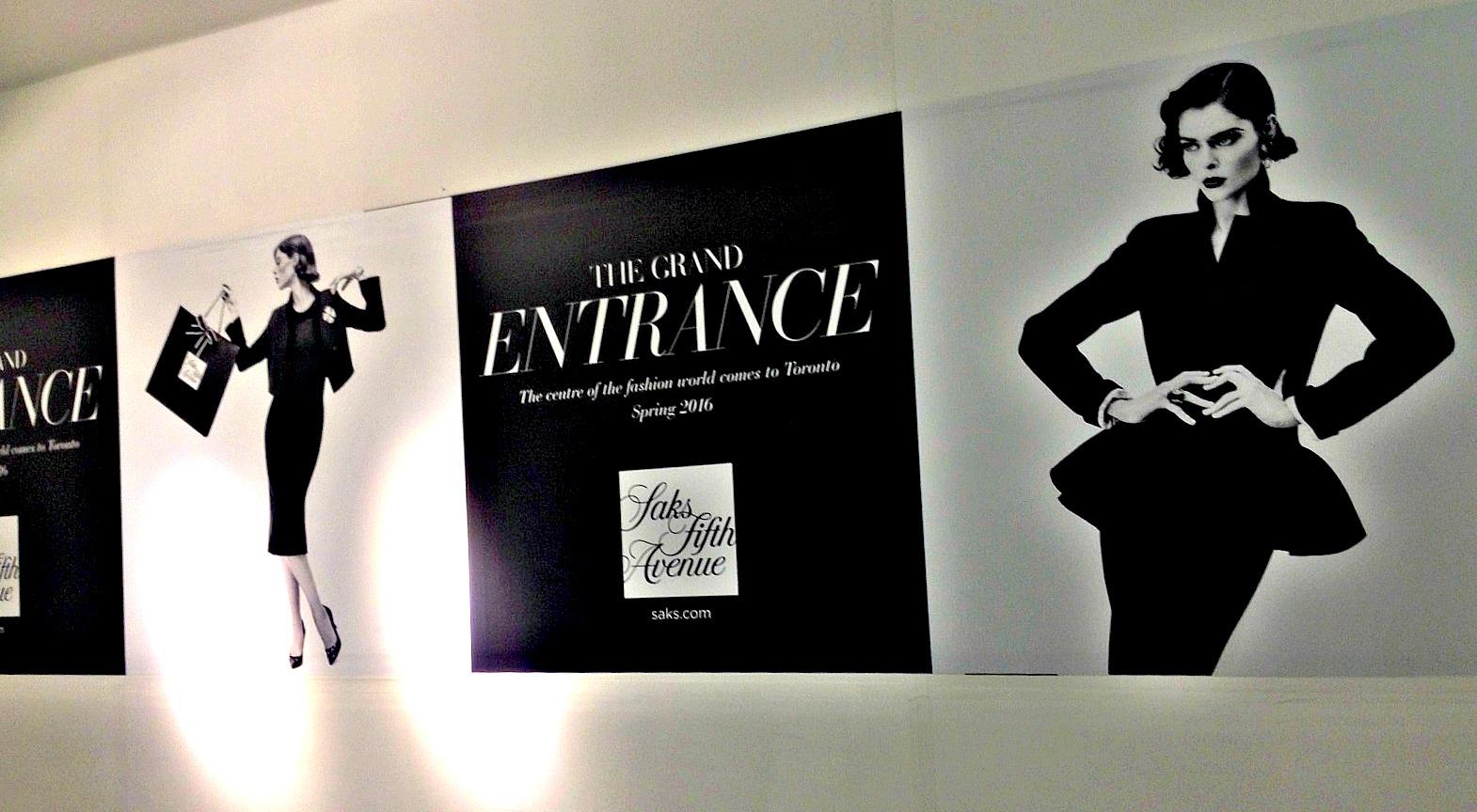 Concourse level construction hoarding features Canadian supermodel Coco Rocha. Photo: Craig Patterson