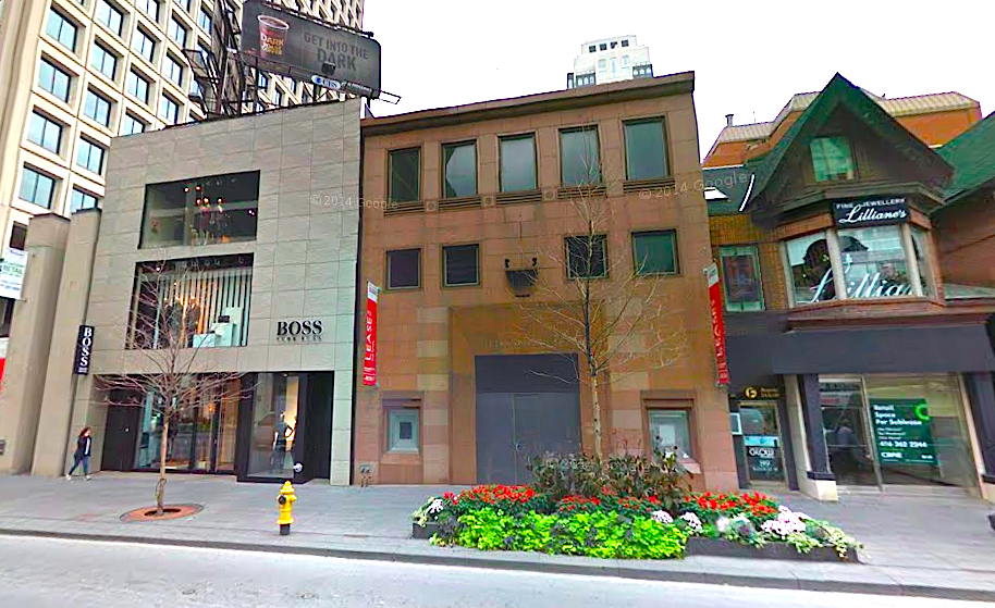 COS recently leased 85 Bloor St. W., located at the centre of this photo. Photo: Google Street View screen capture.