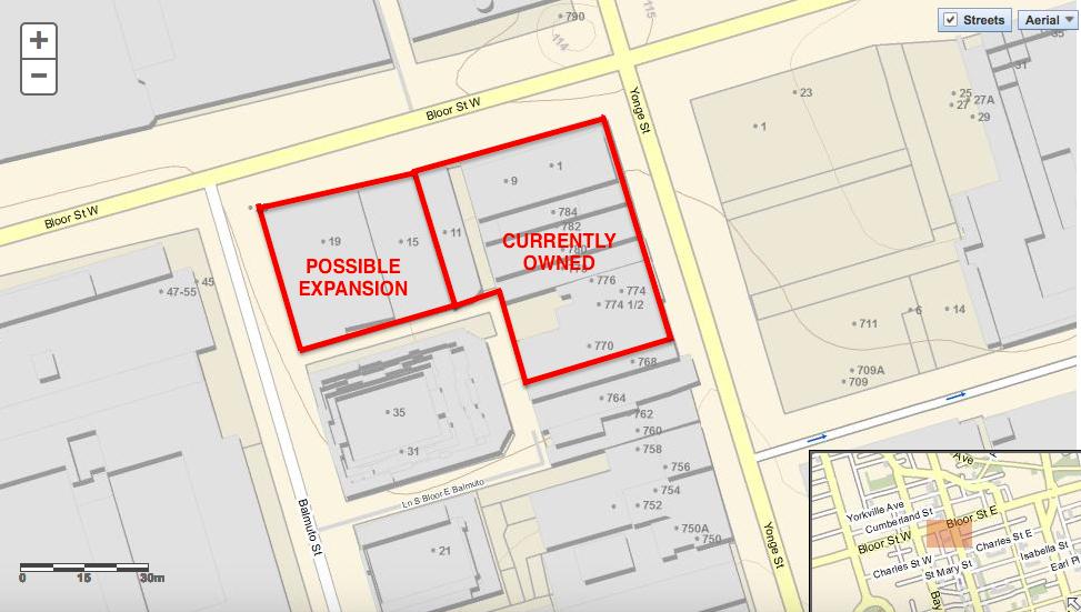 Map via City of Toronto