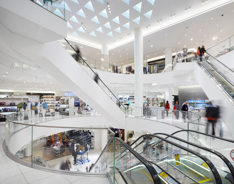 Atrium in the Vancouver store. Photo: Holt Renfrew