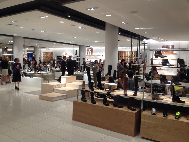 New and renovated Nordstrom stores now feature more modern interiors. Photo: Craig Patterson