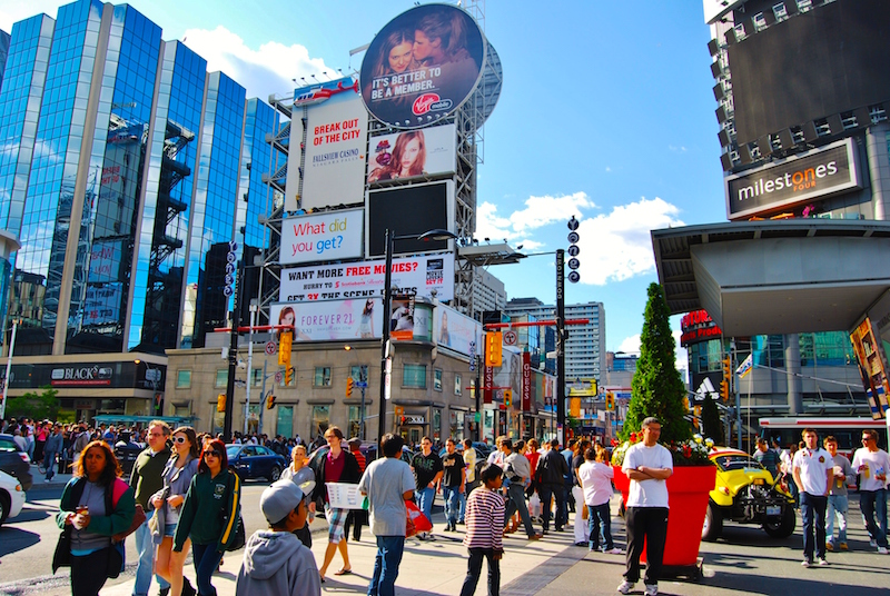 The area around Toronto Eaton Centre boasts some of Canada's highest pedestrian counts. Photo: Toronto.com