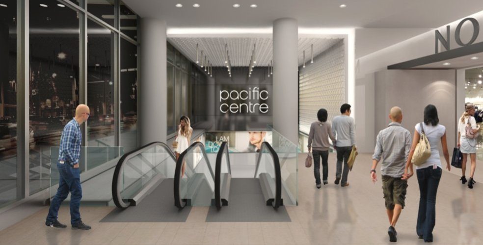 Pacific Centre Expansion Rendering: Cadillac Fairview