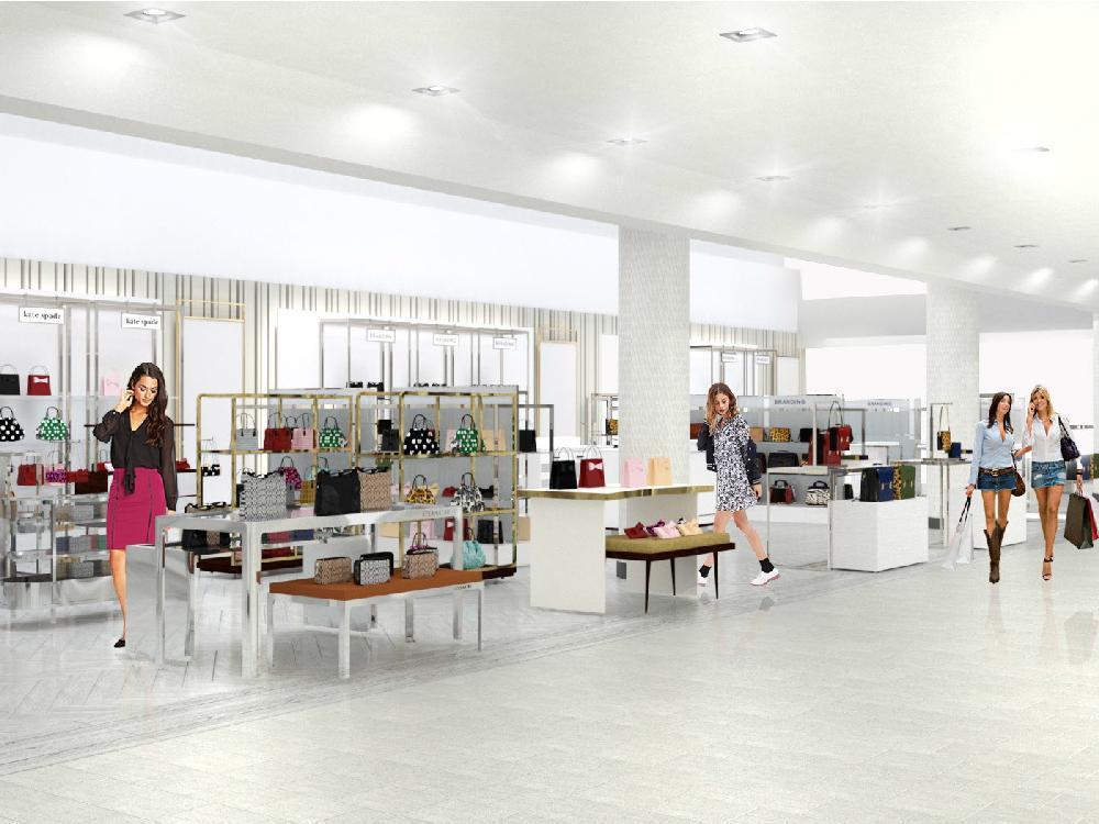 Ottawa women's accessories.Rendering - Hudson's Bay Company