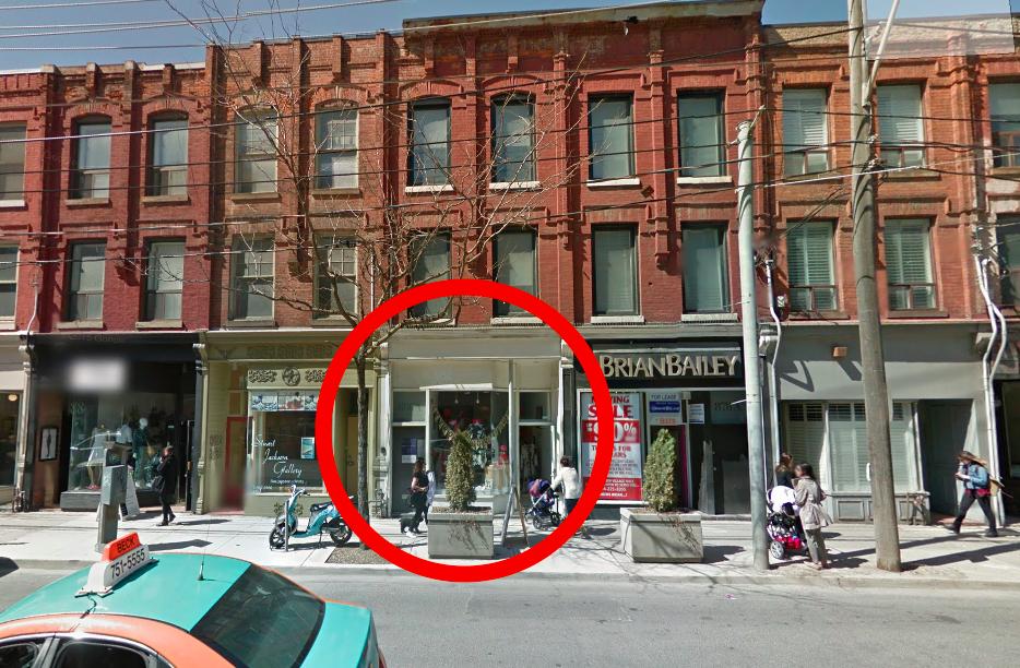 Toronto store pre-renovation. Photo: Google Street View screen capture