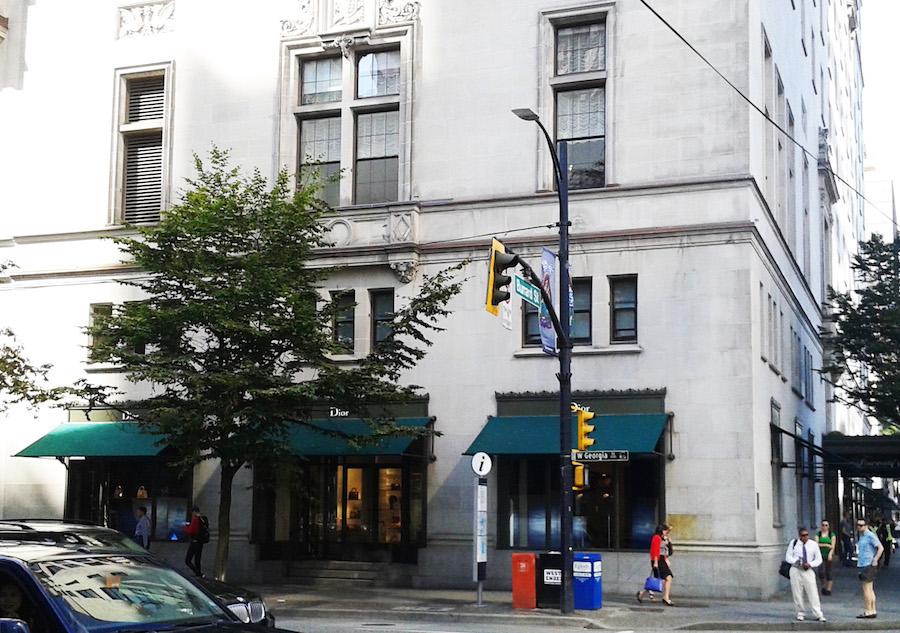Corner of West Georgia Street and Burrard Street.Photo: Helen Siwak