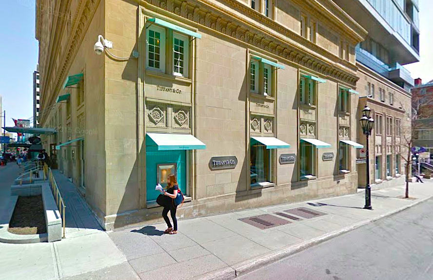 Tiffany at The Ritz. Photo: Google Street View screen capture