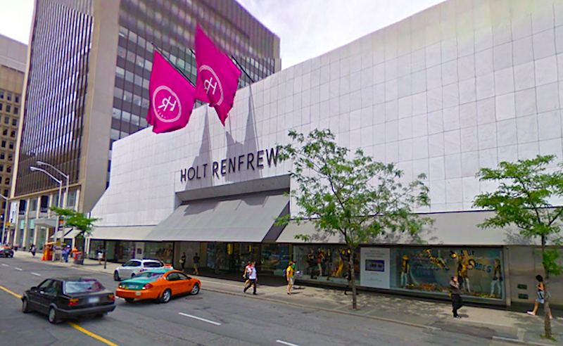 Holt Renfrew's Canadian flagship at 50 Bloor Street West in Toronto. Photo: condopulse.ca