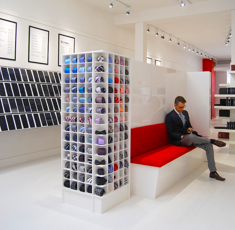 Inside the Toronto store, located at 108 Queen Street East near Jarvis Street.