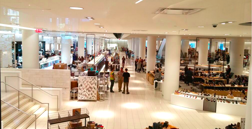 Ground floor cosmetics and footwear. Photo: Ritchie Po