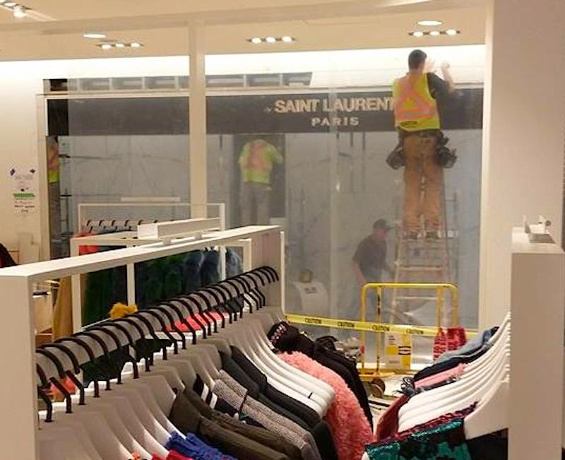 Saint Laurent women's ready-to-wear boutique, under construction on 2. Photo: Helen Siwak