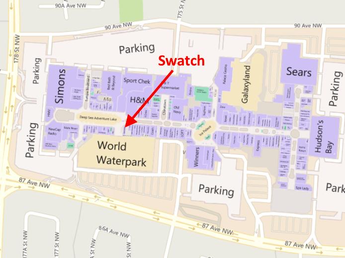 Click for interactive West Edmonton Mall floor plan