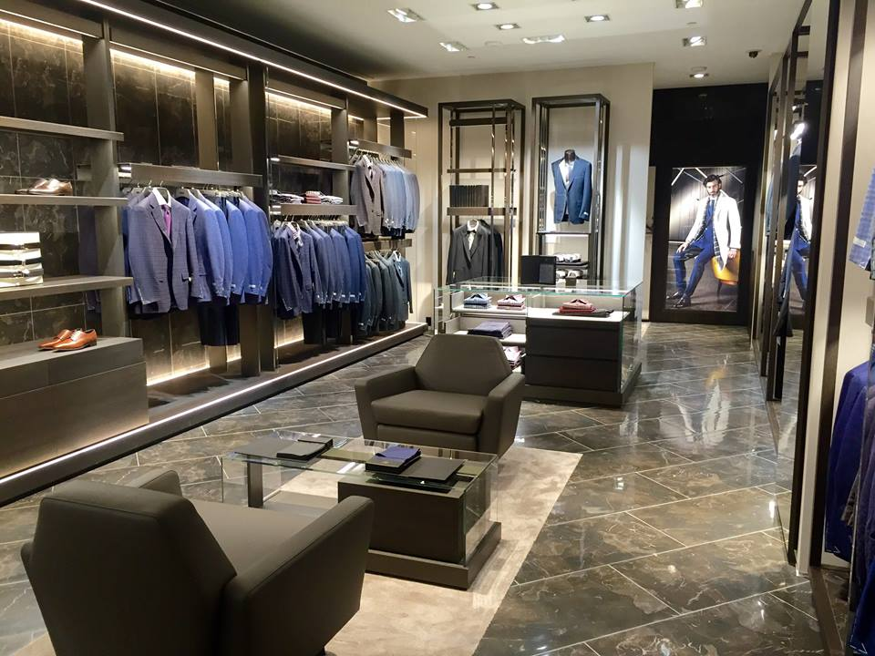 Inside the Canali shop