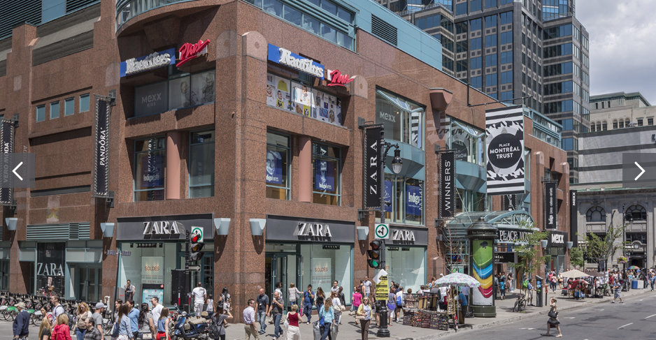 Zara's Montreal flagship remains Canada's largest. Photo: Ivanhoé Cambridge