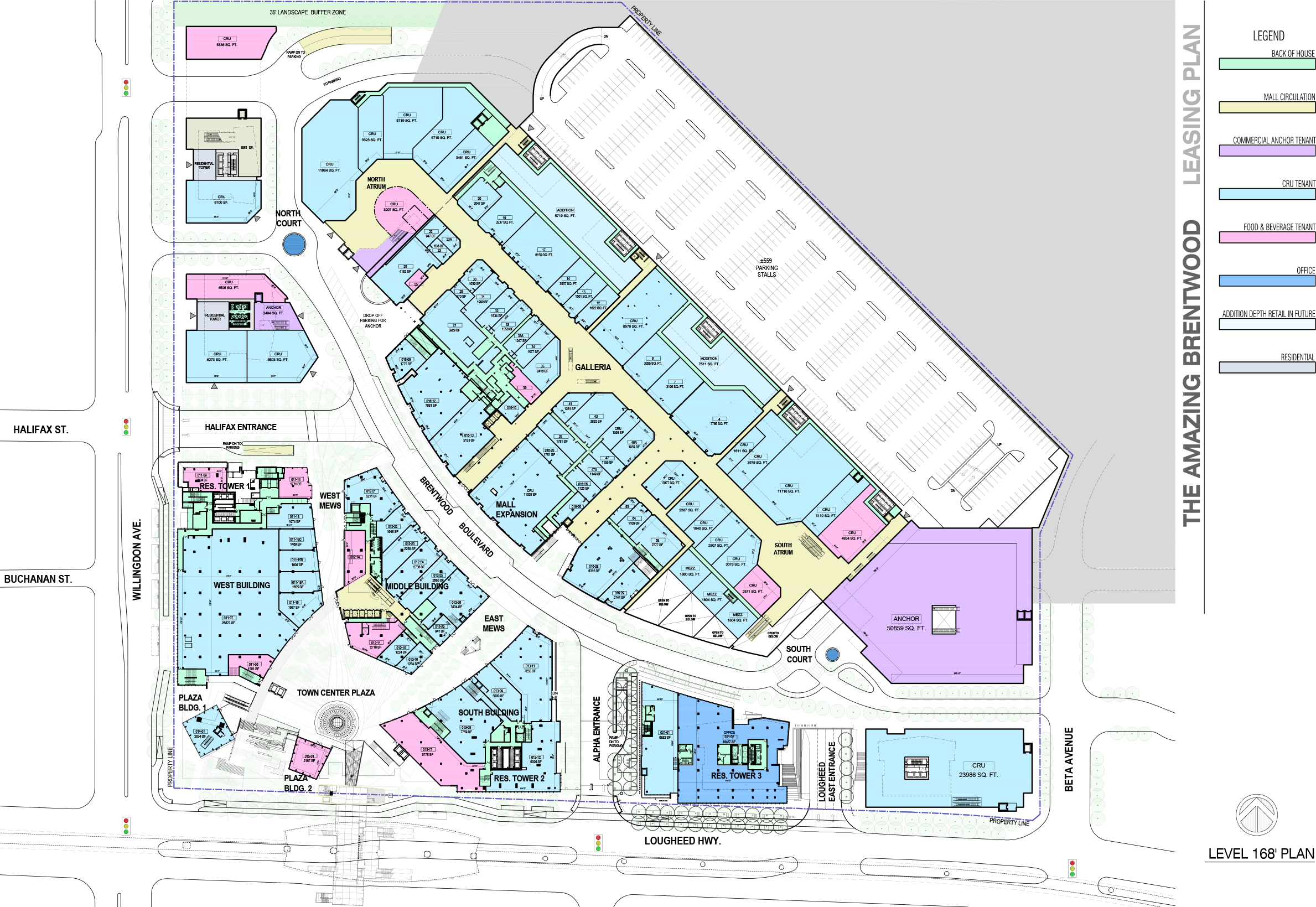 Ground Level.Click above to be directed to multiple lease plans on Brentwood's website