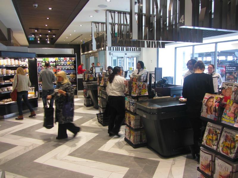 Checkout counters. Photo: Norman Katz