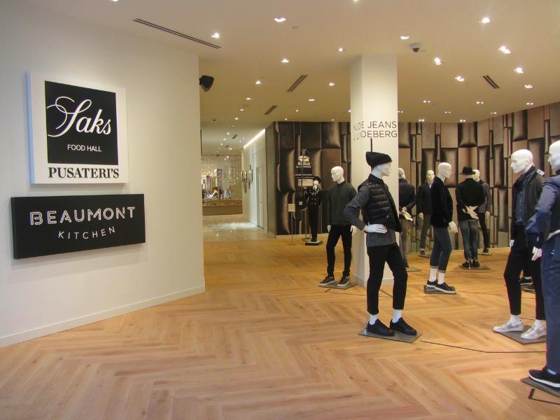Saks' food hall shares the same floor as menswear.Photo: Norman Katz
