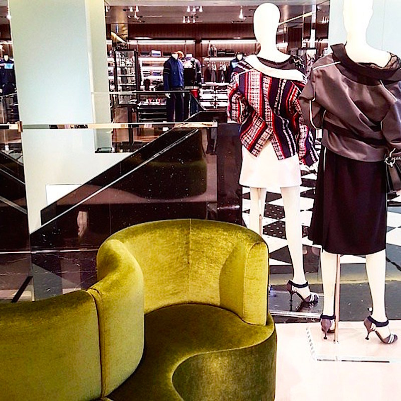 On the store's second floor, taken from womenswear looking over to menswear. Photo: Helen Siwak of @Eco.Lux.Luv