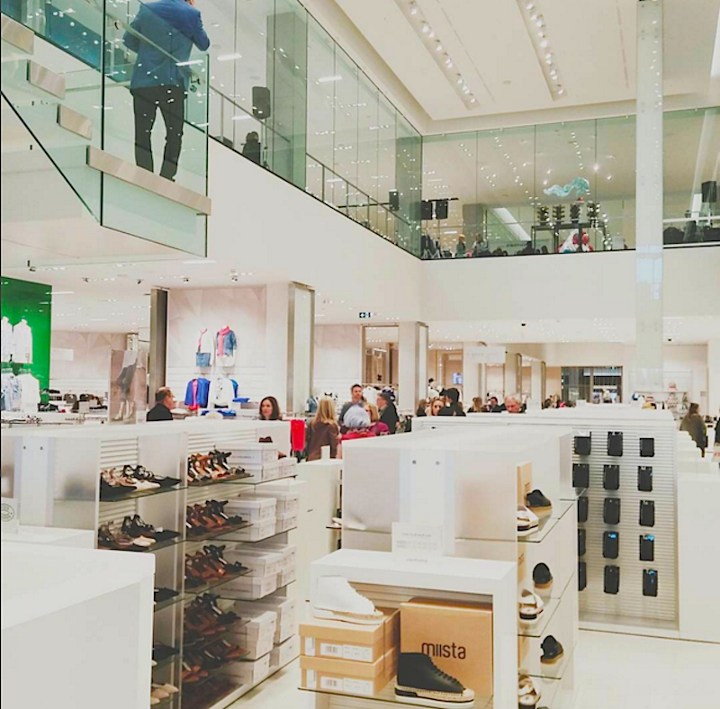 Women's footwear department. Photo: dewey_tr via Instagram