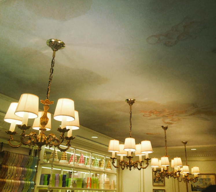 Angels on the ceiling. Photo: Hawksworth Communications
