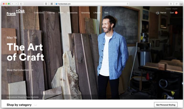 Website screen shot, showing new branding
