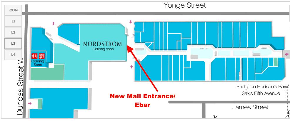Click above for interactive CF Toronto Eaton Centre map.