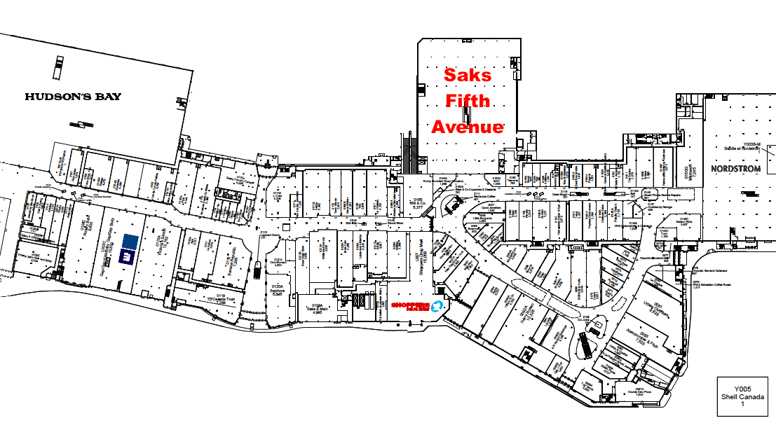Lease plans, above and below, via Cadillac Fairview