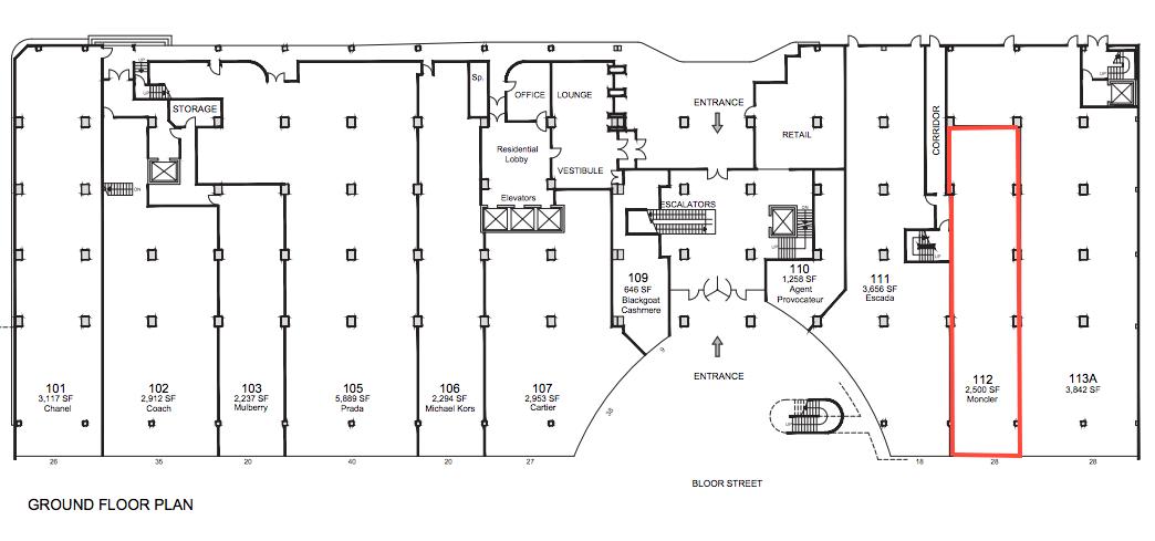Click above for PDF lease plan, via Morguard