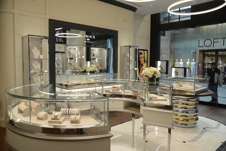 Marble flooring and glossy display cases.  Photo: Tom Sandler