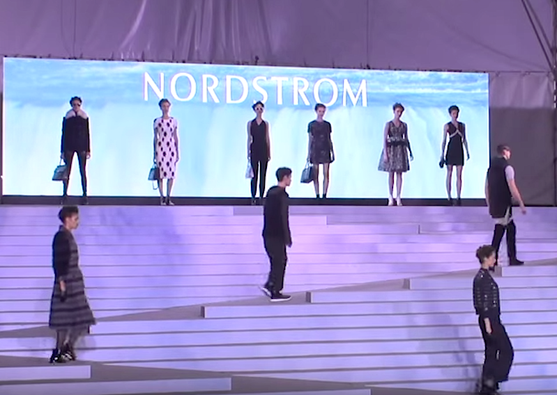Screen shot from the video below, showing the Vancouver gala runway show, last September.