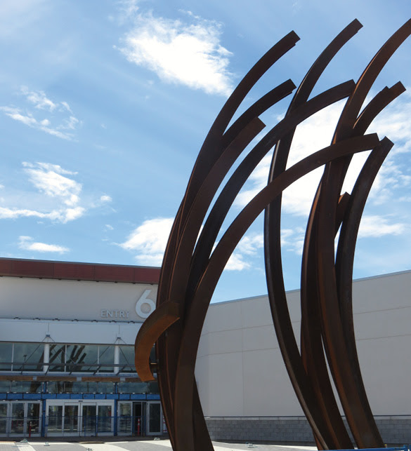 Custom artwork such as these grass icons will be displayed throughout Tsawwassen Mills