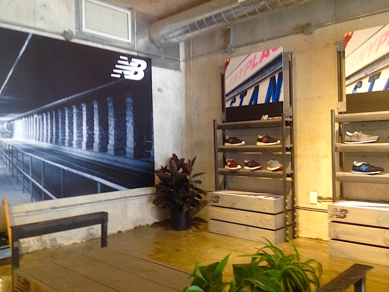 300 square foot second level New Balance pop-up shop.