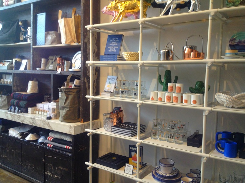 Housewares/gifts display.