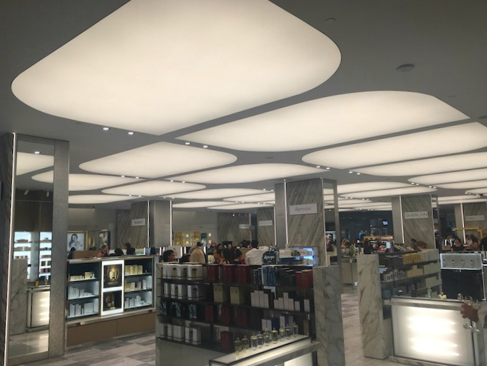 The store's cosmetics hall is large and attractive. Photo: Chantal Mizerski, Retail Council of Canada.