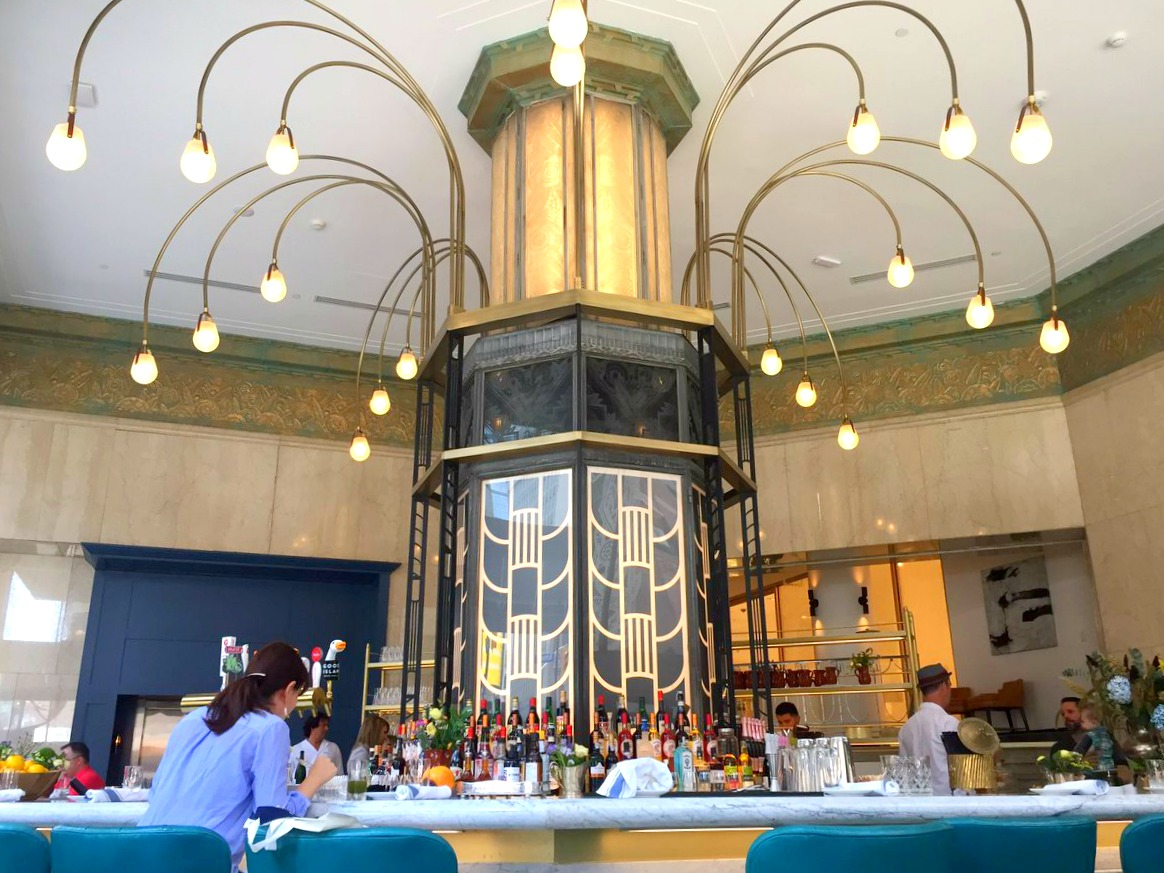 Main floor octogonal bar with heritage pillar. Photo:Beretta Family Farms via Twitter