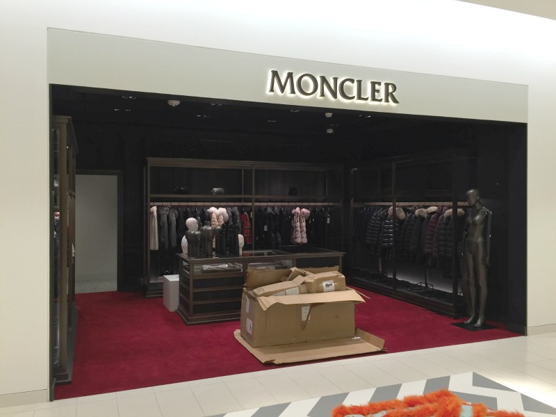 Almost finished: Moncler boutique for women. Photo: Devon Johnson