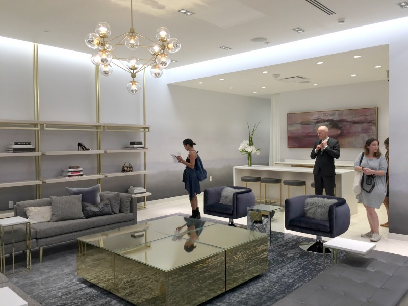The 'JWN Room' private shopping salon on 3. Photo: Devon Johnson