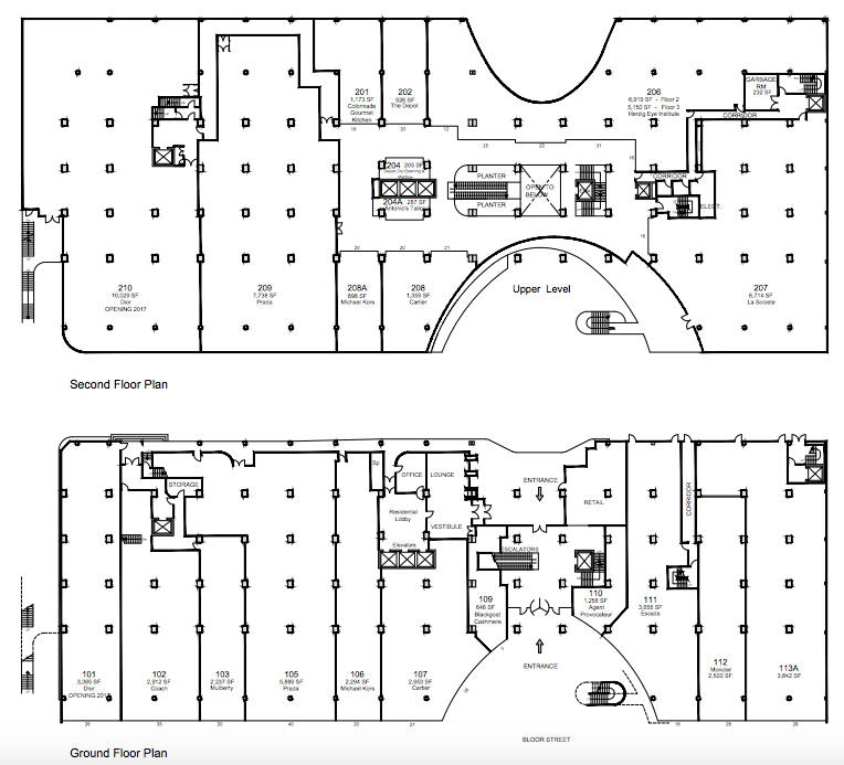 Click above for PDF floorplan, via landlord Morguard.