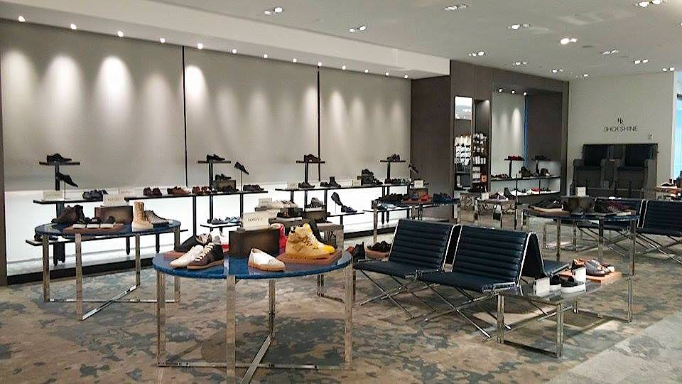 New men's footwear department, and shoe shine.Photo: Ritchie Po