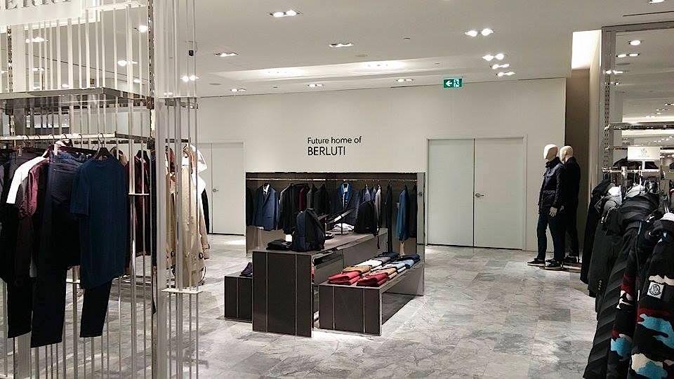 A Berluti boutique will open in the men's store -- a first in Canada.Photo: Ritchie Po