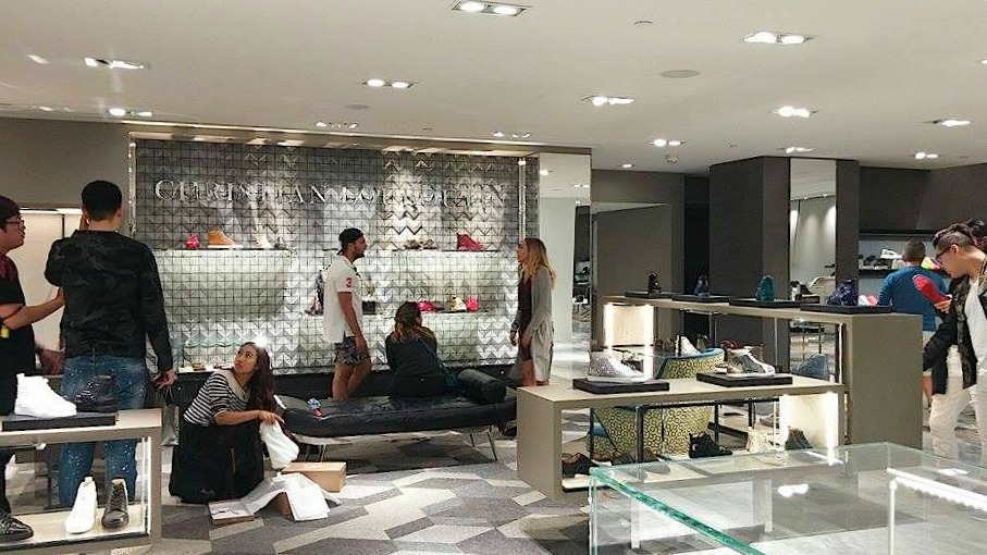 Christian Louboutin men's concession. A women's Louboutin boutique upstairs will also open.Photo: Ritchie Po