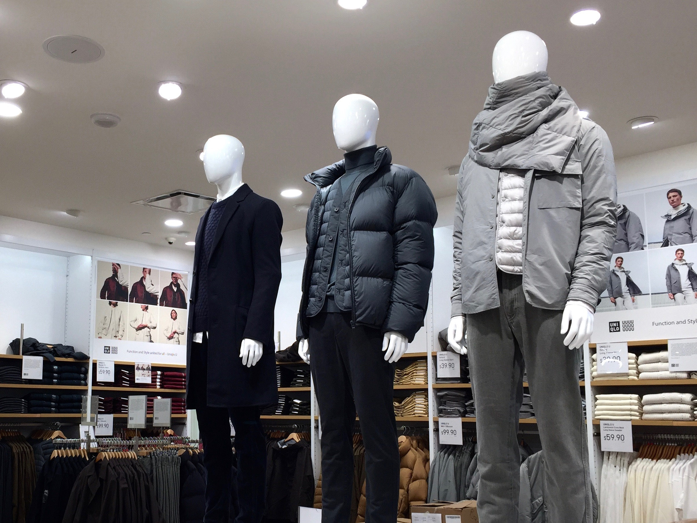 Toronto's Uniqlo location will be carrying 'Uniqlo U', a sophisticated line of mens and women's clothing spearheaded by Uniqlo's artistic director Christophe Lemaire. Photo: Devon Johnson