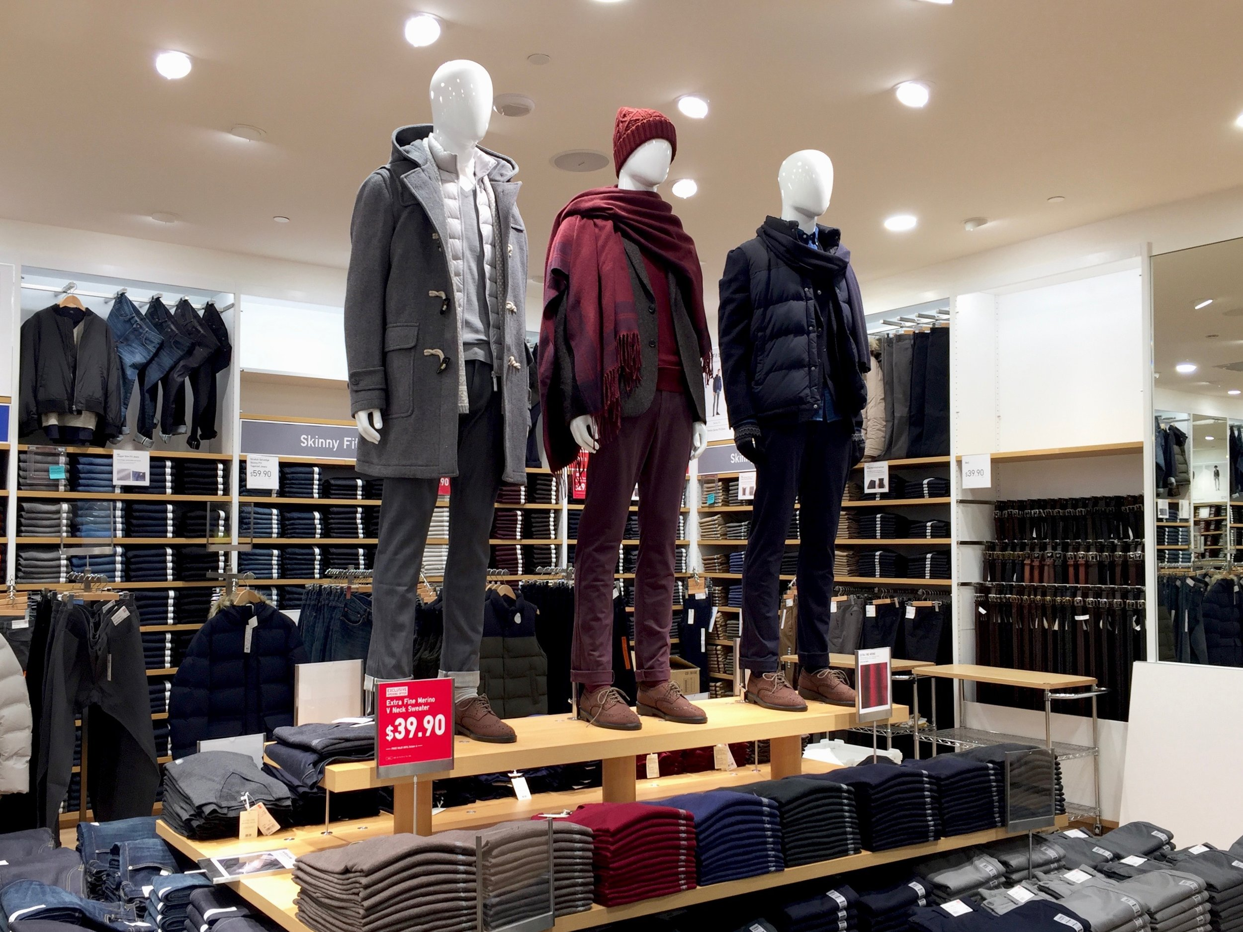Men's jeans and pants are located on the second floor.Photo: Devon Johnson