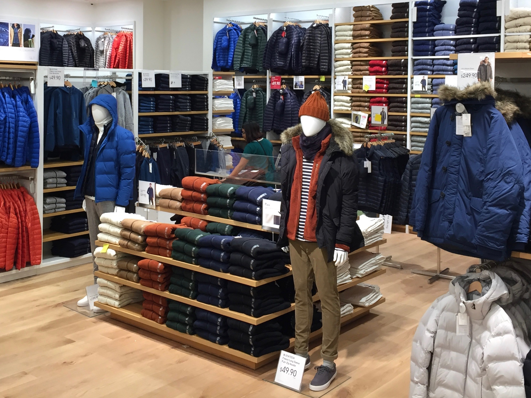 Coats and winter jackets can be found on the first floor.Photo: Devon Johnson