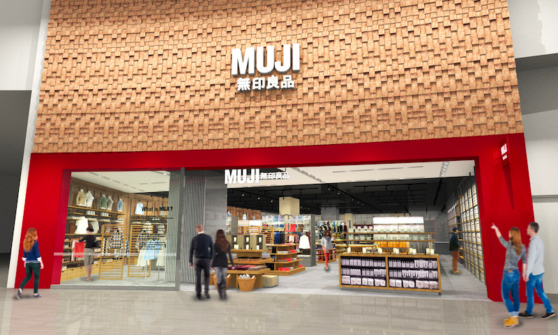 Rendering of the new Yorkdale store, provided by MUJI