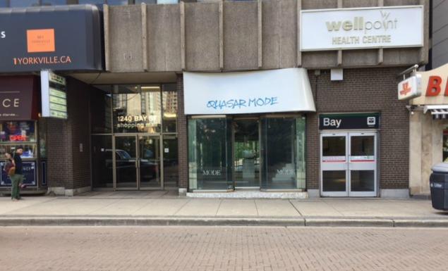 Deciem will replace Quasar Mode on Bellair Street in Toronto's affluent Yorkville area. Photo: Larry Leung.