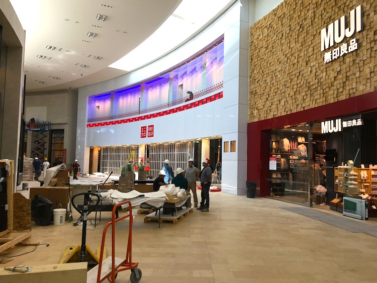 Uniqlo and Muji. Photo taken on Friday, October 14.