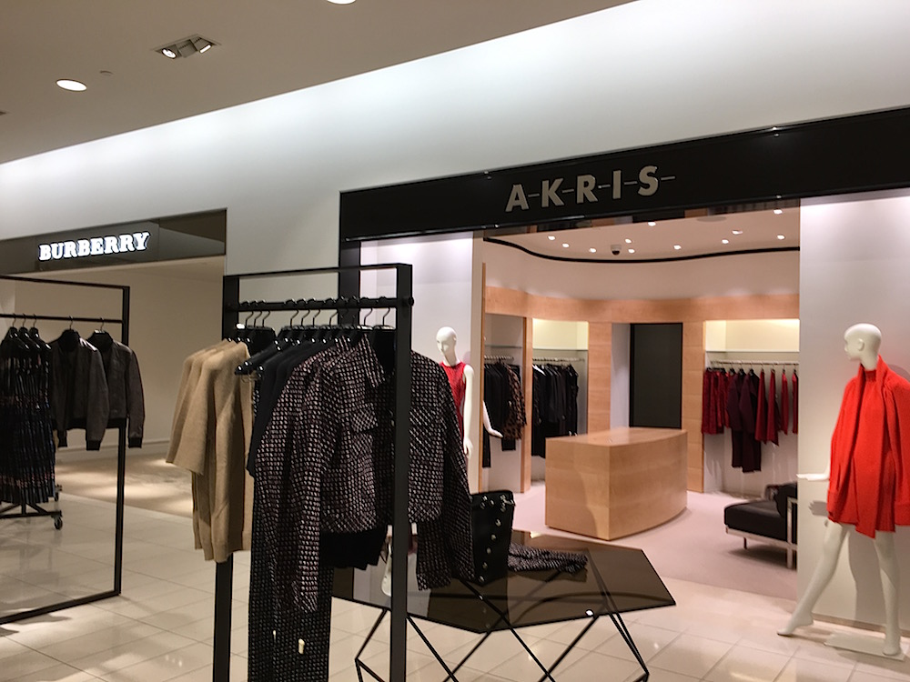 (Premium Swiss fashion brand Akris is a major score for Nordstrom at Yorkdale. Distribution is limited to a handful of the world's top retailers)