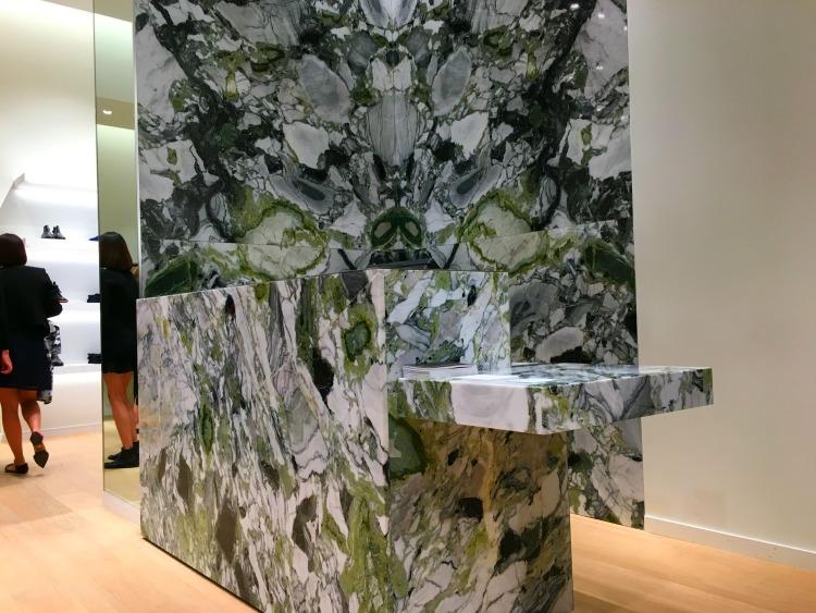 (Impressive marble cash desk)
