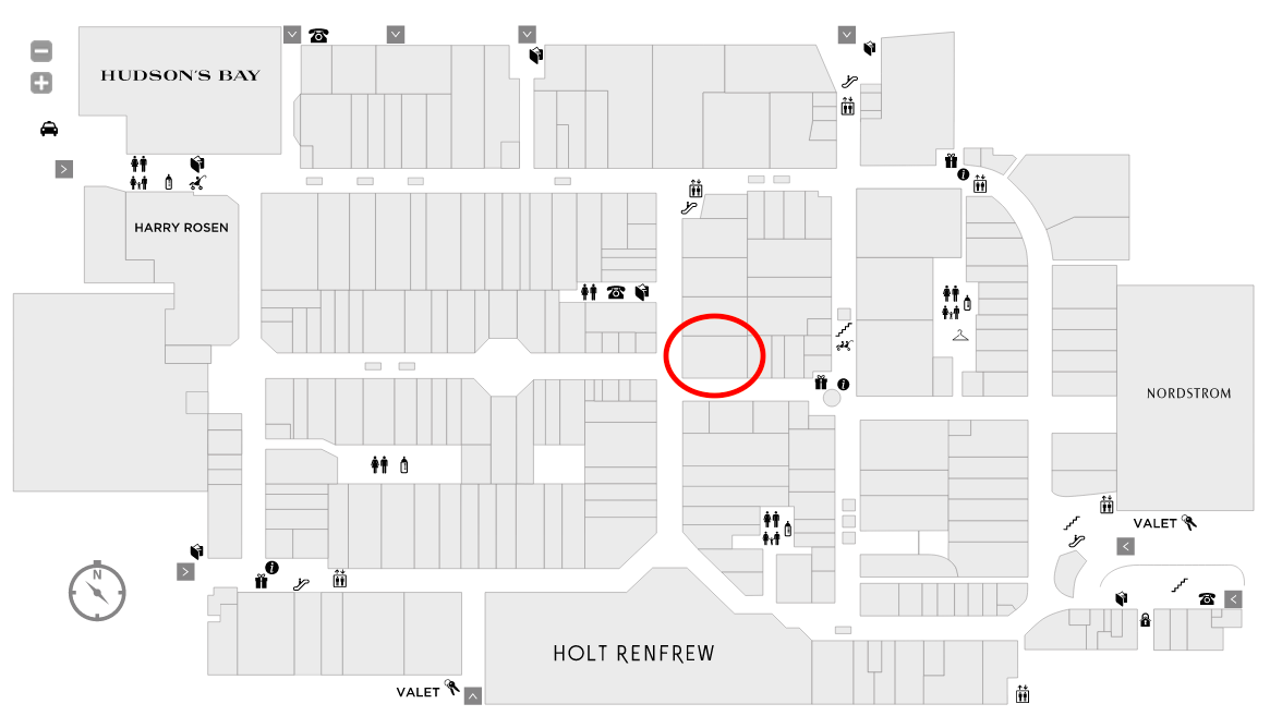 (click maps above or below for interactive versions, via Yorkdale.com)